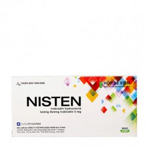 Thuốc trị đau thắt ngực Nisten 5mg (2 vỉ x 14 viên/hộp)
