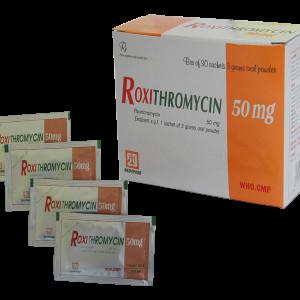 Roxithromycin 50mg Nadyphar (30 gói/hộp)