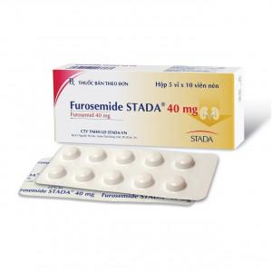 Thuốc lợi tiểu Furosemide Stada 40mg (5 vỉ x 10 viên/hộp)