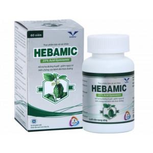 Viên uống hỗ trợ hạ đường huyết cho người bệnh đái tháo đường Hebamic (60 viên/hộp)