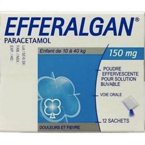 Thuốc giảm đau, hạ sốt cho trẻ em Efferalgan 150mg (12 gói/hộp)