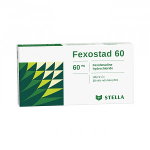 Thuốc điều trị viêm mũi dị ứng & nổi mề đay vô căn mãn tính Fexostad 60mg (10 viên/hộp)