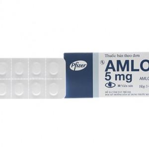 Thuốc trị cao huyết áp Amlor 5mg viên nén (3 vỉ x 10 viên/hộp)
