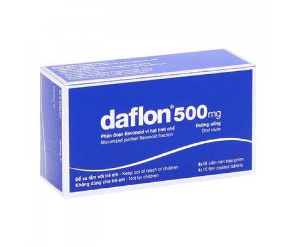Thuốc trợ tĩnh mạch và bảo vệ mạch Daflon 500mg (4 vỉ x 15 viên/hộp)