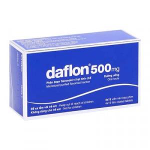 Daflon 500mg (4 vỉ x 15 viên/hộp)