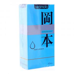 Bao cao su Okamoto Skinless Skin Super Lubricative (10 cái/hộp)
