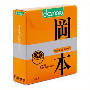 Bao cao su Okamoto Skinless Skin Orange Super Lubricative (3 cái/hộp)