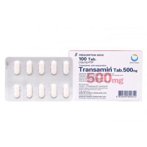 Thuốc cầm máu Transamin 500mg (10 vỉ x 10 viên/hộp)