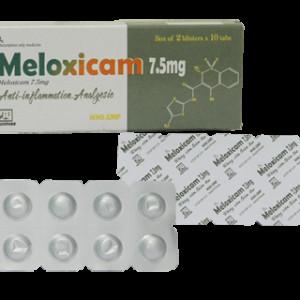 Meloxicam 7.5mg Nadyphar (2 vỉ x 10 viên/hộp)