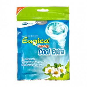 Kẹo thảo dược hỗ trợ làm dịu cơn ho, giảm đau rát họng Eugica Candy Cool Extra (15 viên/gói)