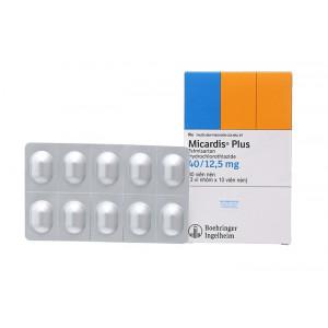 Thuốc trị cao huyết áp Micardis Plus 40mg/12.5mg (3 vỉ x 10 viên/hộp)