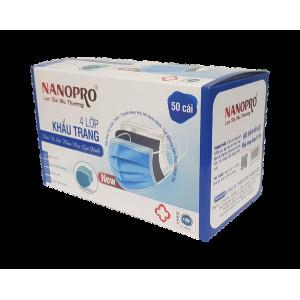 Khẩu trang y tế Nanopro 4 Lớp màu hồng (50 Chiếc/Hộp)