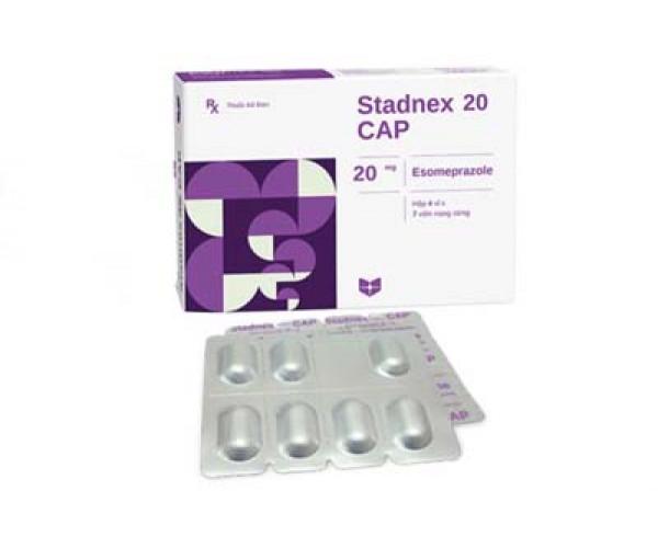 Thuốc điều trị loét dạ dày tá tràng Stadnex cap 20mg (4 vỉ x 7 viên/hộp)