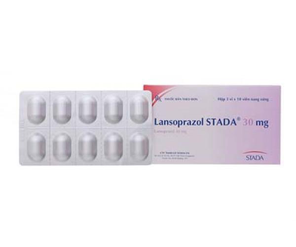 Thuốc điều trị loét dạ dày - tá tràng Lansoprazol Stada 30mg (3 vỉ x 10 viên/hộp)