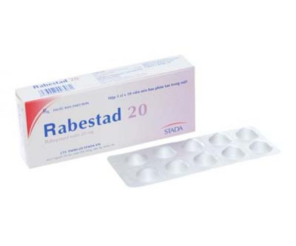 Thuốc điều trị loét dạ dày, tá tràng Rabestad 20mg (3 vỉ x 10 viên/hộp)