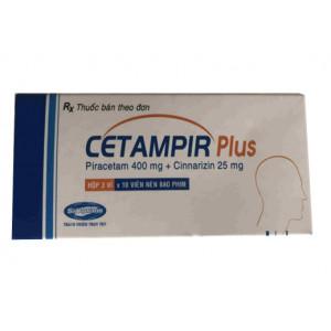 Thuốc Cetampir plus (3 vỉ x 10 viên/hộp)