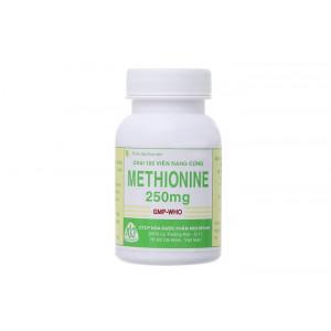 Thuốc trị quá liều paracetamol Methionine 250mg MKP (100 viên/chai)