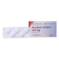 Thuốc kháng virus Acyclovir Stada 400mg (7 vỉ x 5 viên/hộp)