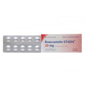 Thuốc trị mỡ máu Rosuvastatin Stada 20mg (3 vỉ x 10 viên/hộp)