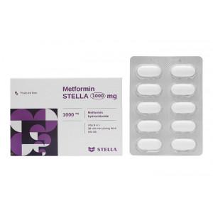 Metformin Stella 1000mg (6 vỉ x 10 viên/hộp)