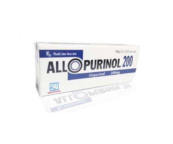 Thuốc trị gout Allopurinol 200mg Nadyphar (3 vỉ x 10 viên/hộp)