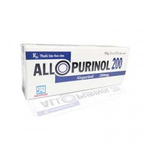 Allopurinol 200mg Nadyphar (3 vỉ x 10 viên/hộp)