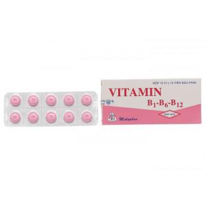 Thuốc bổ sung Vitamin B1-B6-B12 MKP (10 vỉ x 10 viên/hộp)