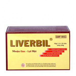 Viên uống nhuận gan, lợi mật Liverbil OPC (5 vỉ x 10 viên/hộp)