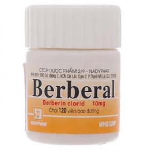 Thuốc trị tiêu chảy, kiết lỵ Berberal 10mg (120 viên/chai)
