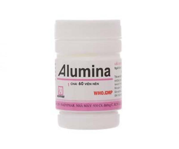 Thuốc trị loét dạ dày tá tràng Alumina Nadyphar (60 viên/chai)