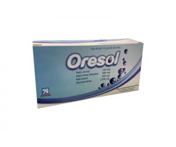Thuốc bột bù nước và điện giải Oresol (40 gói/hộp)