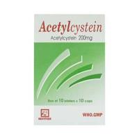 Thuốc tiêu đờm Acetylcystein 200mg Nadyphar (10 vỉ x 10 viên/hộp)
