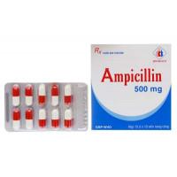 Thuốc kháng sinh Ampicillin 500mg Domesco (10 vỉ x 10 viên/hộp)