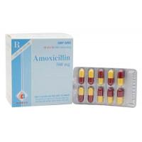 Thuốc kháng sinh Amoxicillin 500mg Domesco (10 vỉ x 10 viên/hộp)