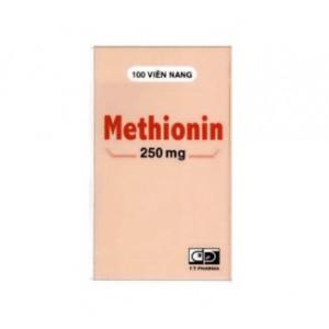 Thuốc điều trị quá liều paracetamol Methionin 250mg F.T.Pharma(100 viên/hộp)