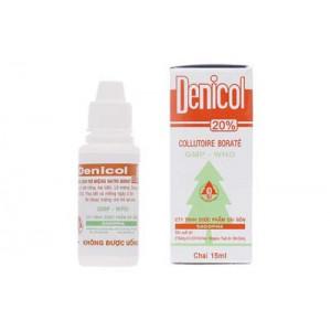 Dung dịch rơ miệng cho trẻ em Denicol 20% (15ml)