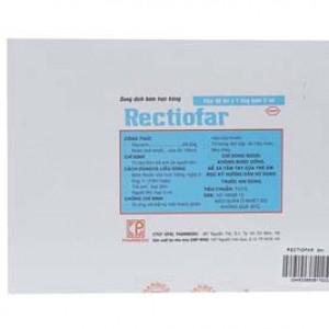 Dung dịch bơm trực tràng trị táo bón ở trẻ em Rectiofar 3ml (50 ống/hộp)