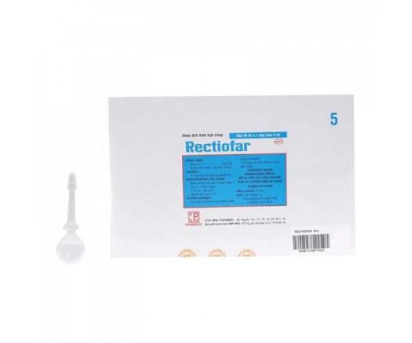 Dung dịch bơm trực tràng trị táo bón ở người lớn Rectiofar 5ml (40 ống/hộp)