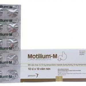Thuốc chống nôn Motilium - M 10mg (10 vỉ x 10 viên/hộp)