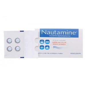 Thuốc phòng ngừa và điều trị say tàu xe Nautamine (20 vỉ x 4 viên/hộp)