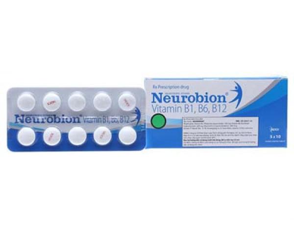 Thuốc bổ sung vitamin B1, B6, B12 Neurobion (5 vỉ x 10 viên/hộp)