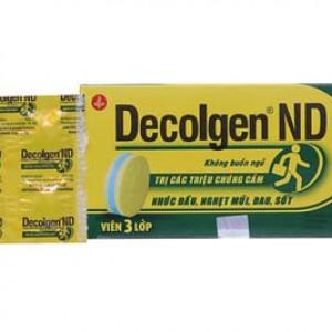 Thuốc điều trị các triệu chứng cảm Decolgen ND (25 vỉ x 4 viên/hộp)