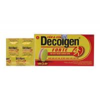Thuốc trị các triệu chứng cảm nhức đầu, đau, sốt Decolgen Forte (25 vỉ x 4 viên/hộp)