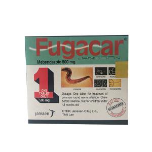 Thuốc điều trị nhiễm giun Fugacar 500mg