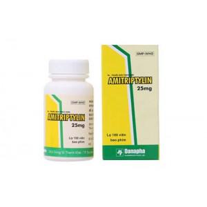 Thuốc chống trầm cảm Amitriptylin 25mg Danapha (100 viên/hộp)