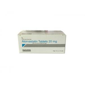 Thuốc điều trị mỡ máu Atorvastatin 20mg Macleods (10 vỉ x 10 viên/hộp)