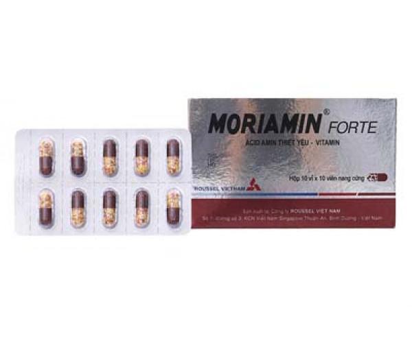 Thuốc bổ sung acid amin và vitamin Moriamin Forte (10 vỉ x 10 viên/hộp)