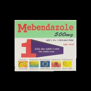 Thuốc trị giun sán  Mebendazol 500mg MKP (1 viên/hộp)