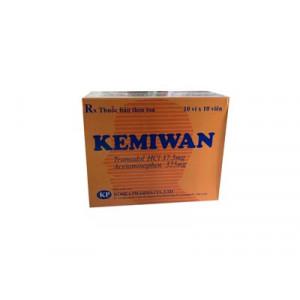 Thuốc giảm đau Kemiwan (10 vỉ x 10 viên/hộp)