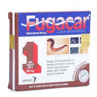 Thuốc điều trị nhiễm giun Fugacar vị Chocolate 500mg